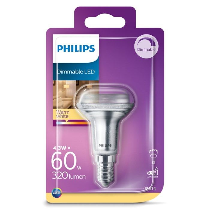 Philips LED-lampa Reflektor E14 320 lm