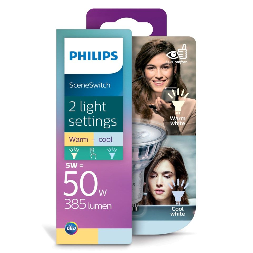 Philips Sceneswitch LED-pære GU10 385 lm