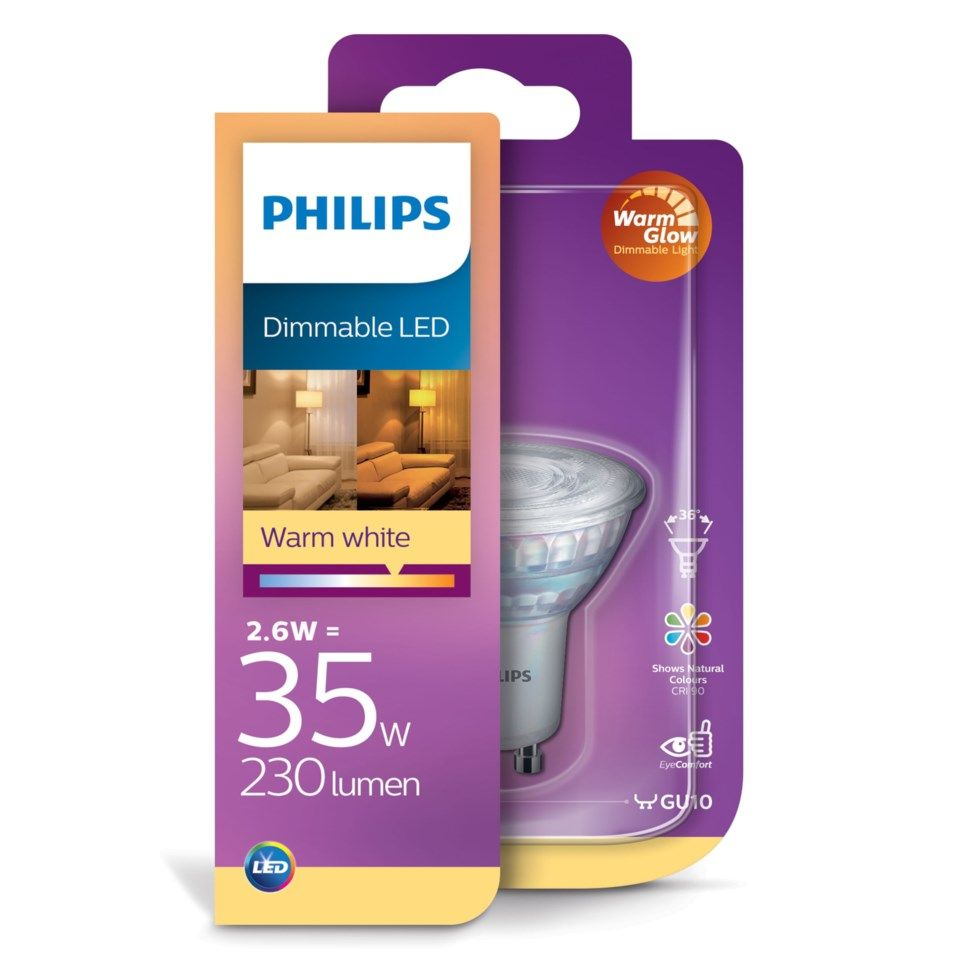 Philips LED-pære GU10 230 lm