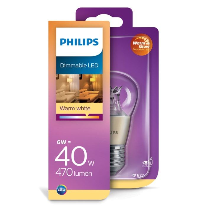 Philips Dimbar LED-lampa E27 470 lm