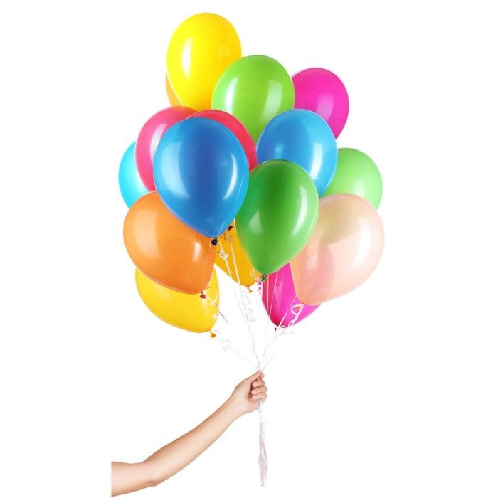 Ballonger i mixade färger 50-pack