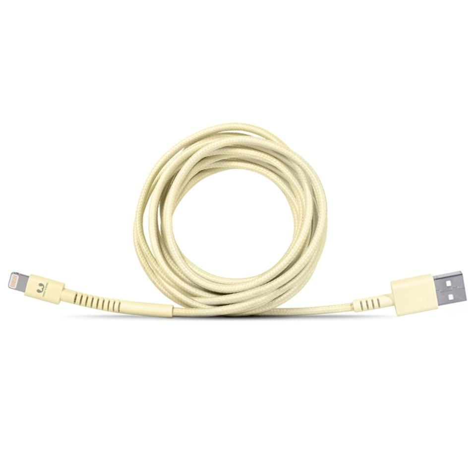 Fresh n Rebel Fabriq Lightning-kabel 3 m Gul