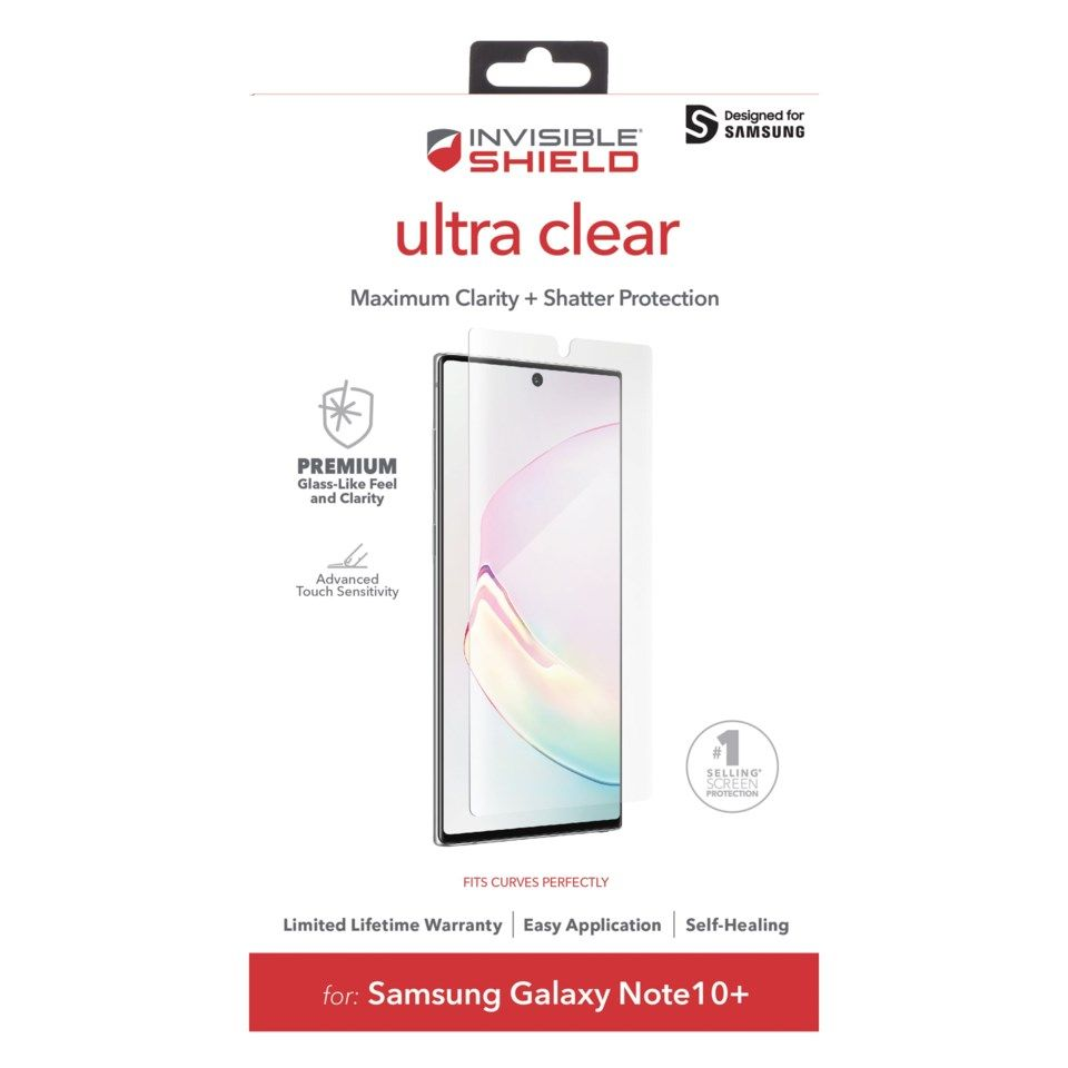 Invisible Shield Ultra Clear Skjermbeskytter for Note 10 Plus