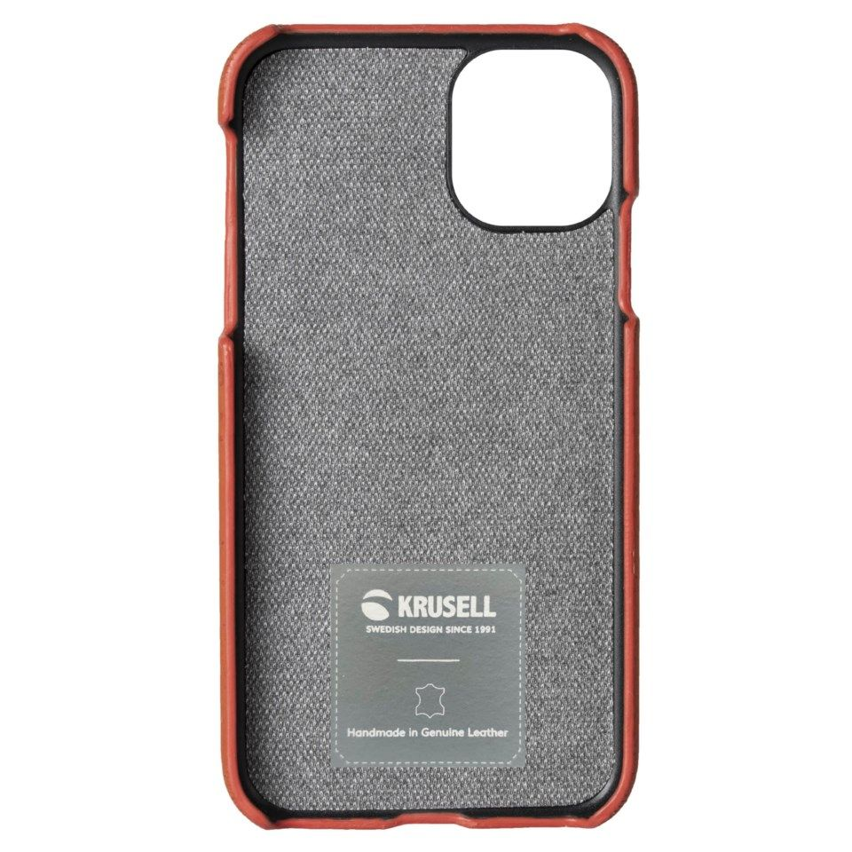 Krusell Birka Mobildeksel i kork for iPhone 11 Pro Max Brunt