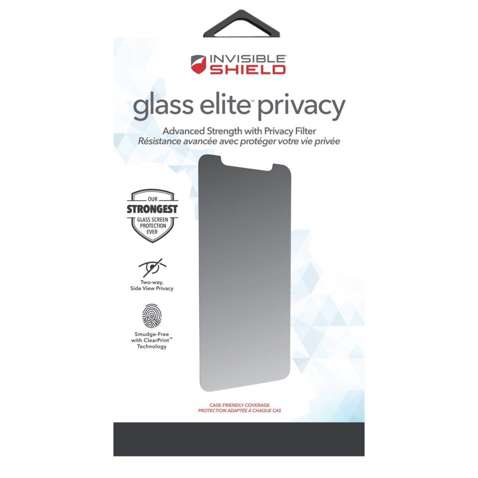 Invisible Shield Glasss Elite Privacy Skjermbeskytter for iPhone 11 Pro Max