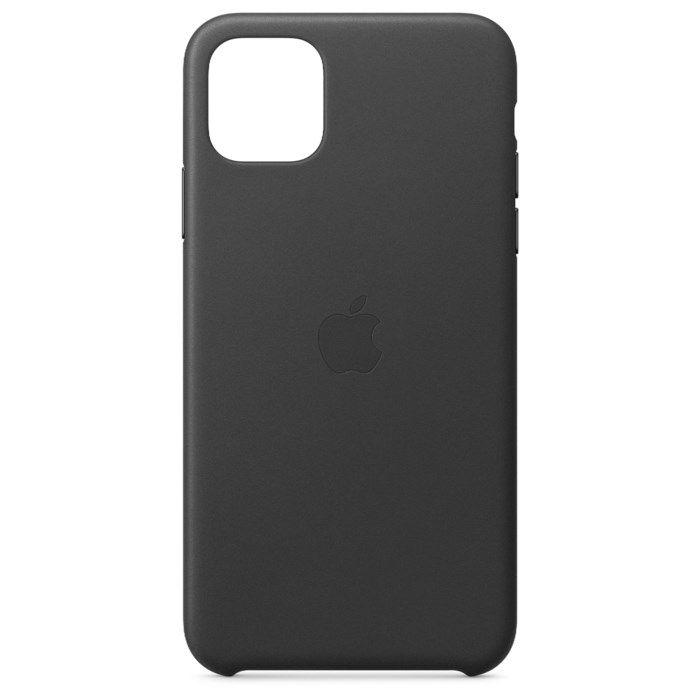 Apple Läderskal till iPhone11 ProMax Svart