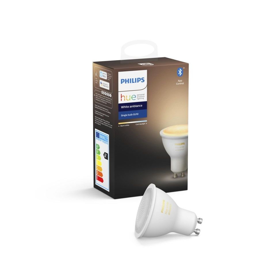 Philips Hue Ambiance Smart LED-pære GU10 350 lm 1-pk.