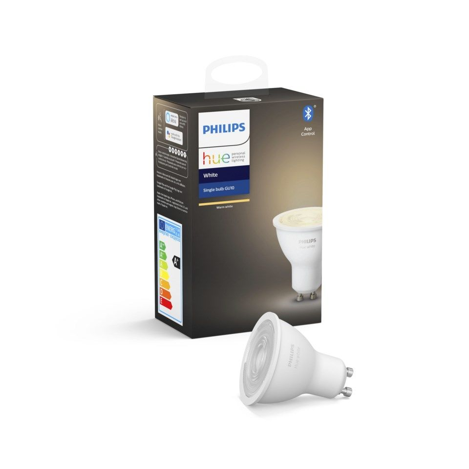Philips Hue White Smart LED-lampa GU10 400 lm 1-pack