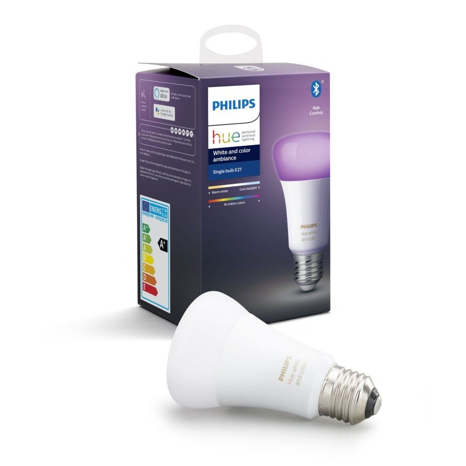 Philips Hue Color Ambiance Smart LED-lampa E27 806 lm 1-pack