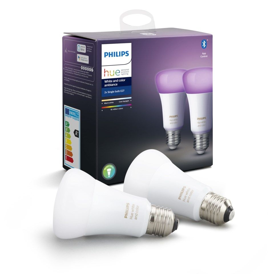 Philips Hue Color Ambiance Smart LED-lampa E27 806 lm 2-pack