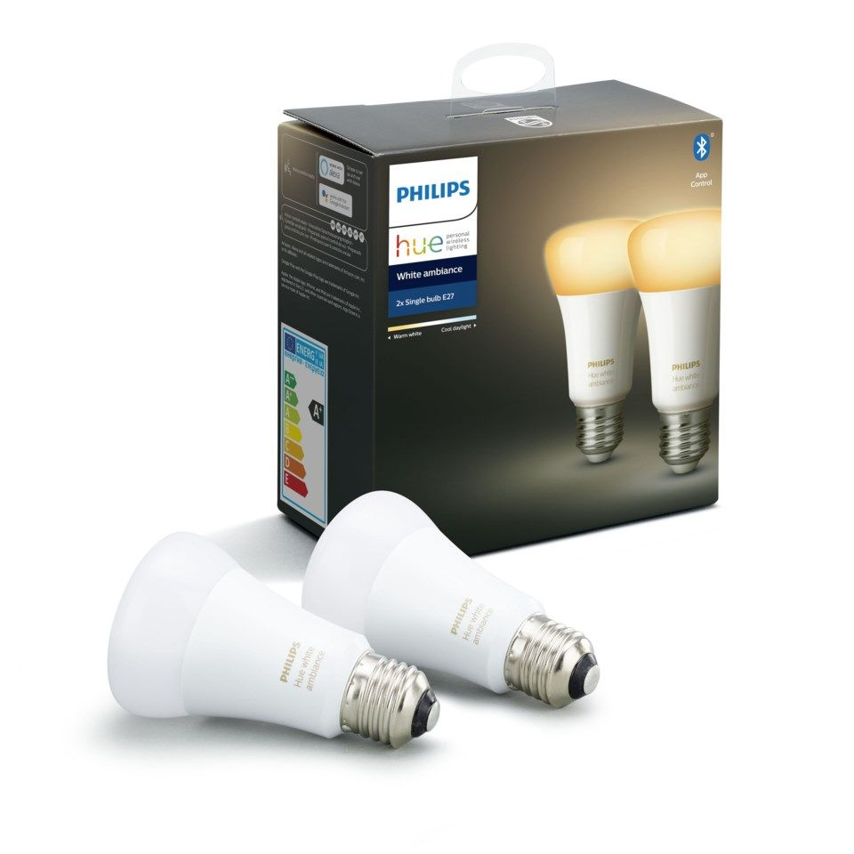 Philips Hue Ambiance Smart LED-lampa E27 806 lm 2-pack