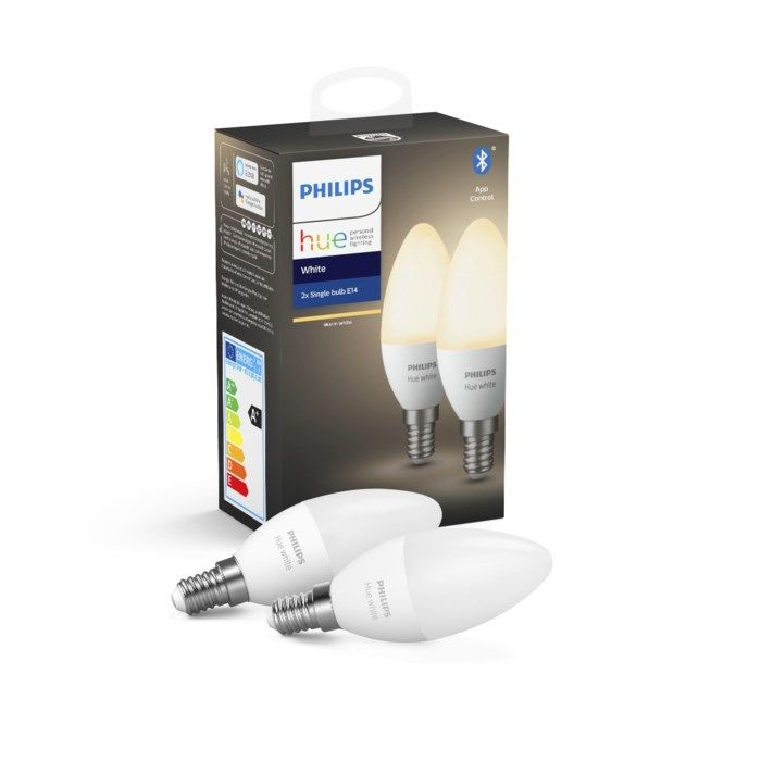 Philips Hue White Smart LED-lampa E14 470 lm 2-pack