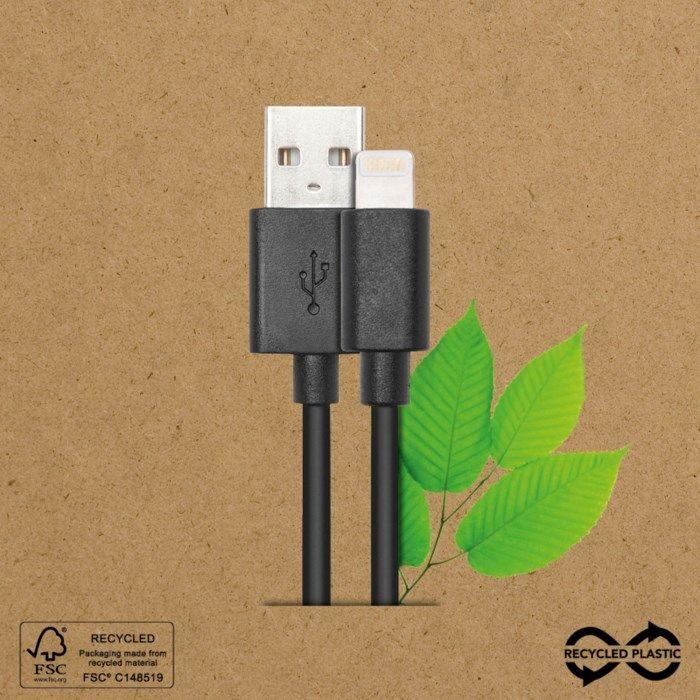 Linocell Recycled Lightning-kabel av återvunnen plast