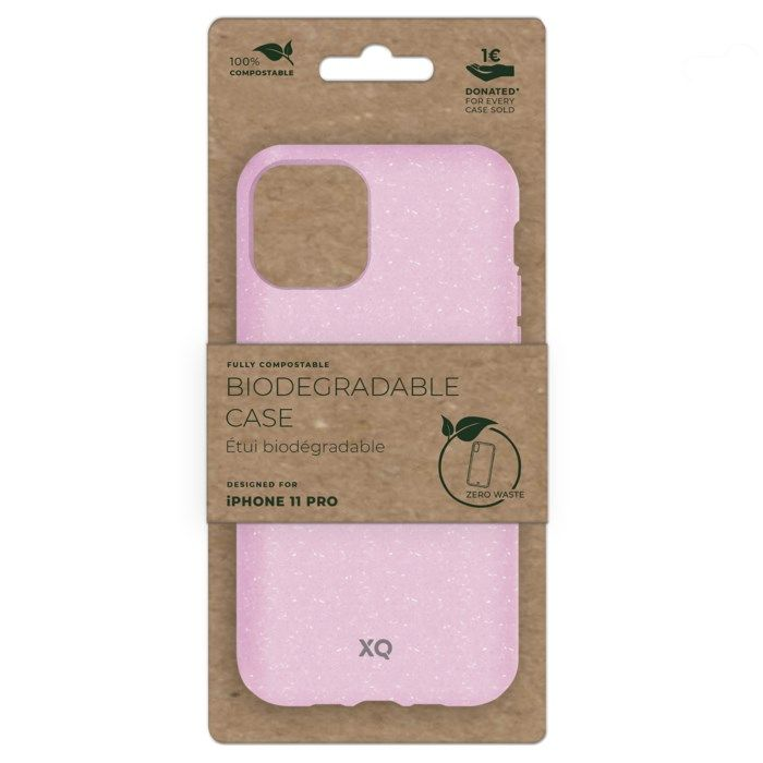 Xqisit Komposterbart mobilskal för iPhone 11 Pro Rosa