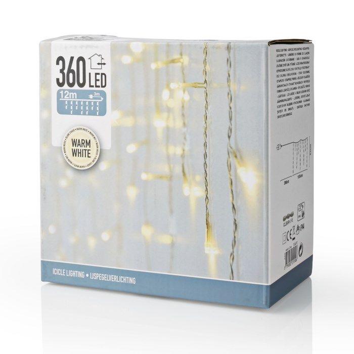 Ljusslinga istappar dekoration 360 LED