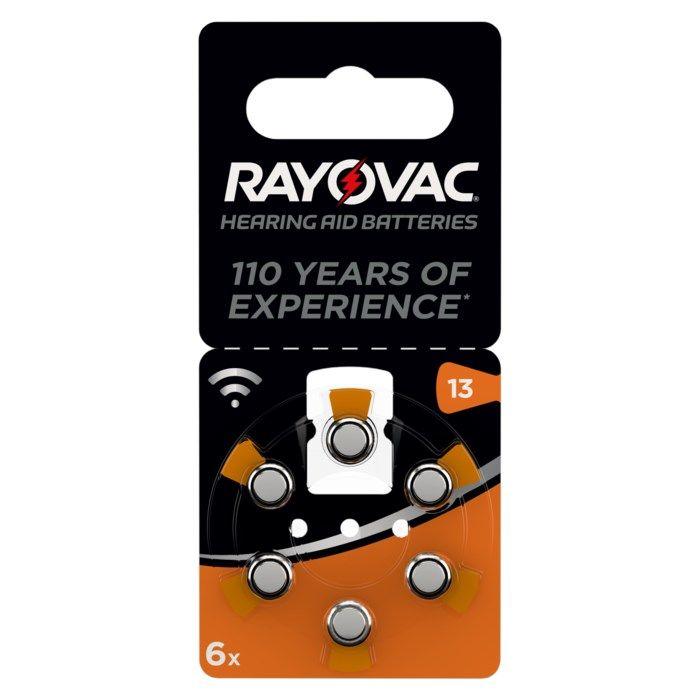 Rayovac Hörapparatsbatterier Orange ZA13 6-pack