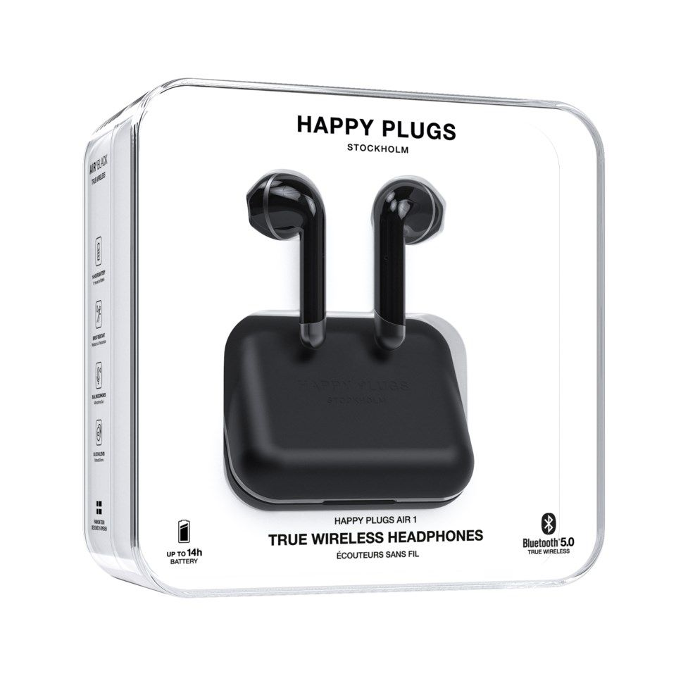 Happy Plugs Air 1 Trådløst headset Svart
