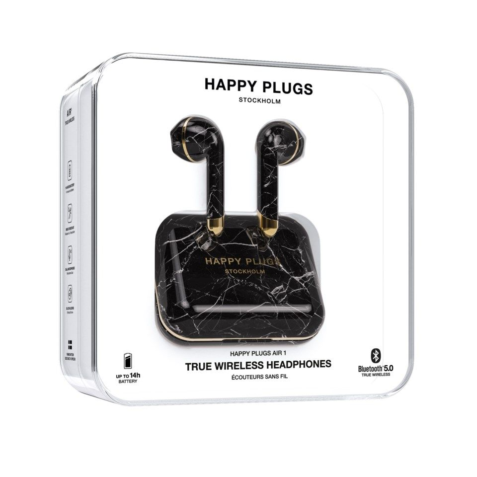 Happy Plugs Air 1 Trådløst headset Svart marmor