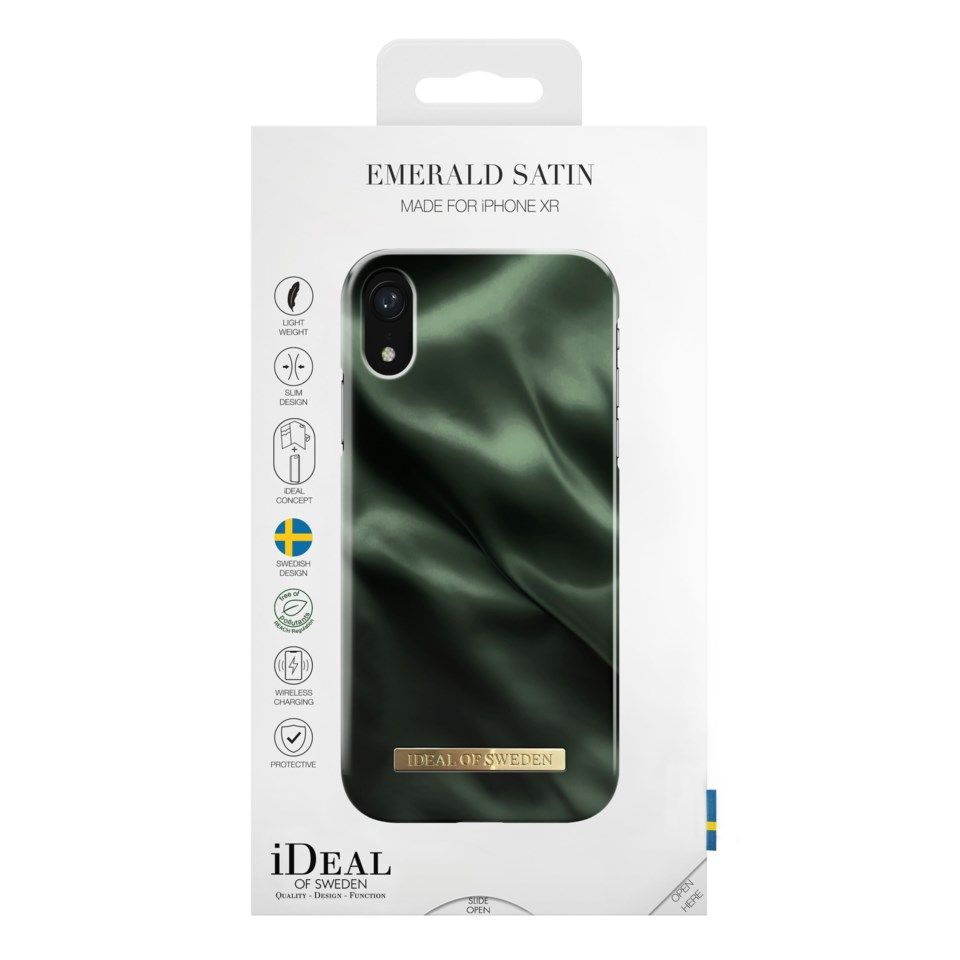 Ideal of Sweden Emerald Satin Mobilskal för iPhone XR