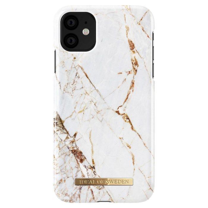 Ideal of Sweden Carrara Gold Mobilskal för iPhone Xr och 11