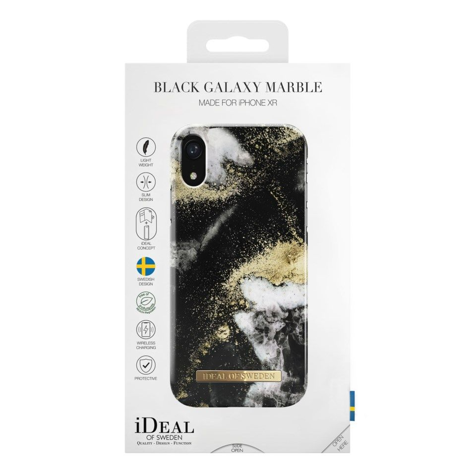 IDEAL OF SWEDEN Black Galaxy Mobilskal för iPhone XR