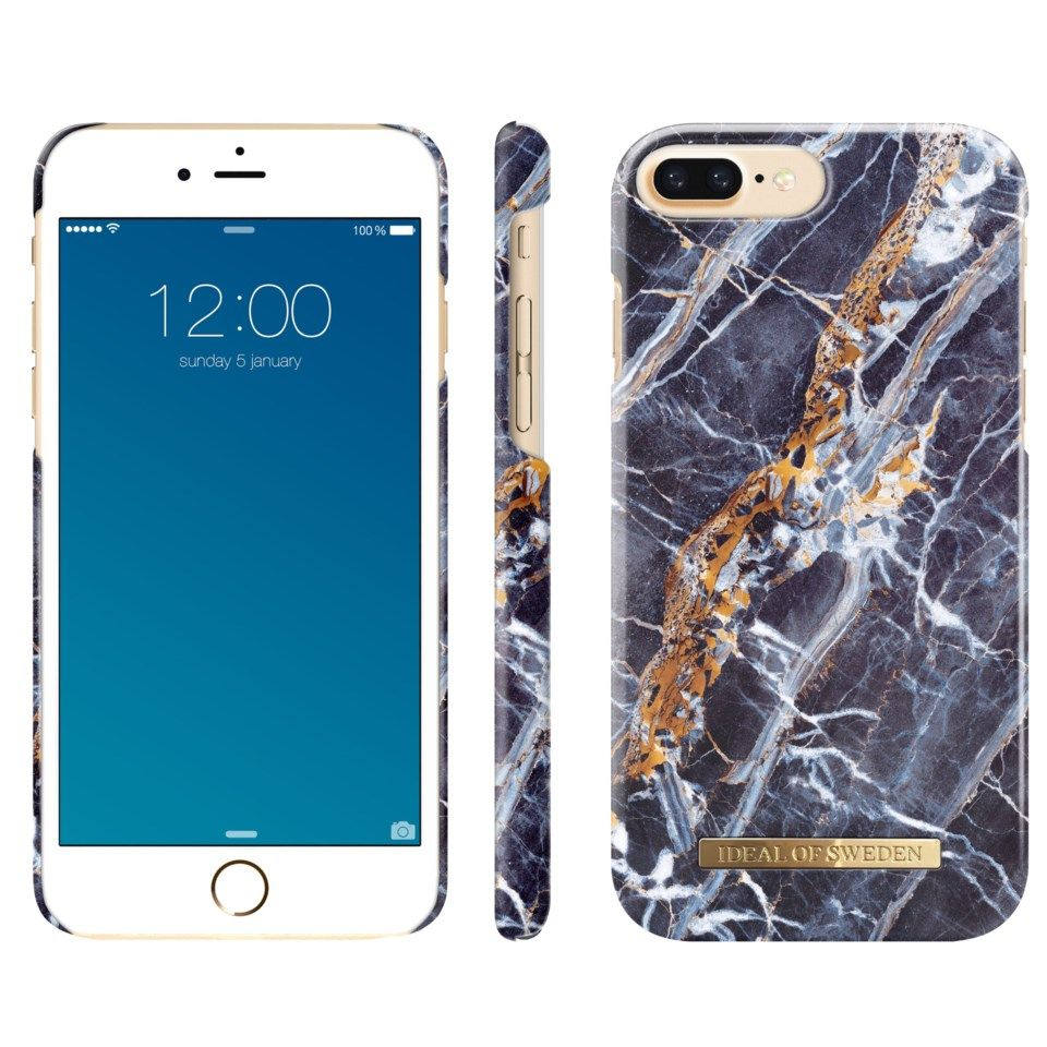 Ideal of Sweden Midnight Blue Marble Mobilskal för iPhone 6, 7 och 8 Plus-serien
