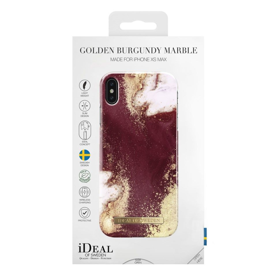 Ideal of Sweden Golden Burgundy Mobilskal för iPhone Xs Max