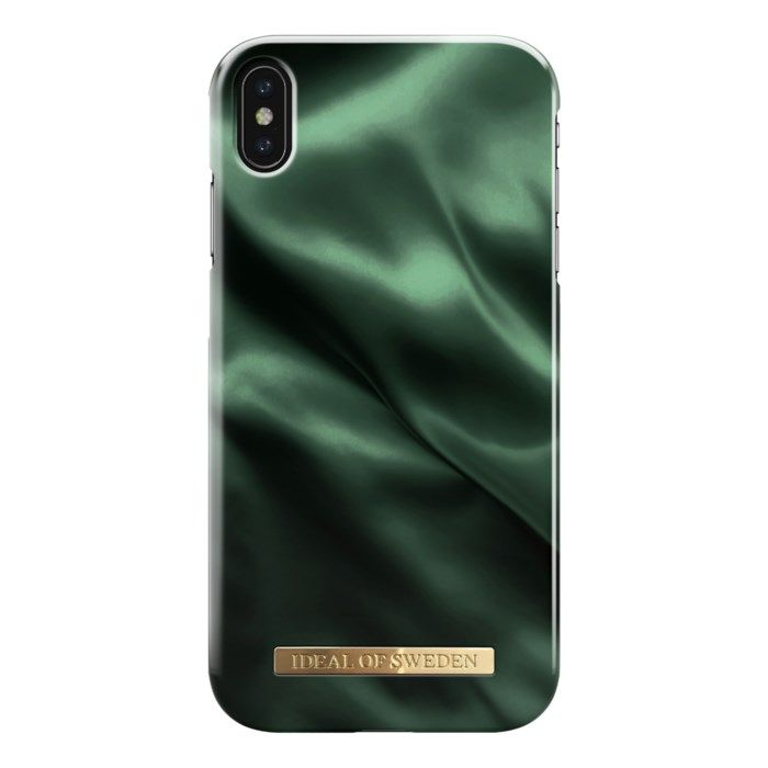 Ideal of Sweden Emerald Satin Mobilskal för iPhone Xs Max