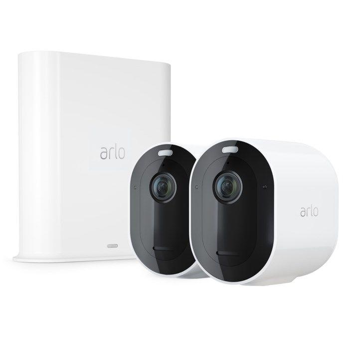 Arlo Pro 3 Övervakningssystem vit med två kameror