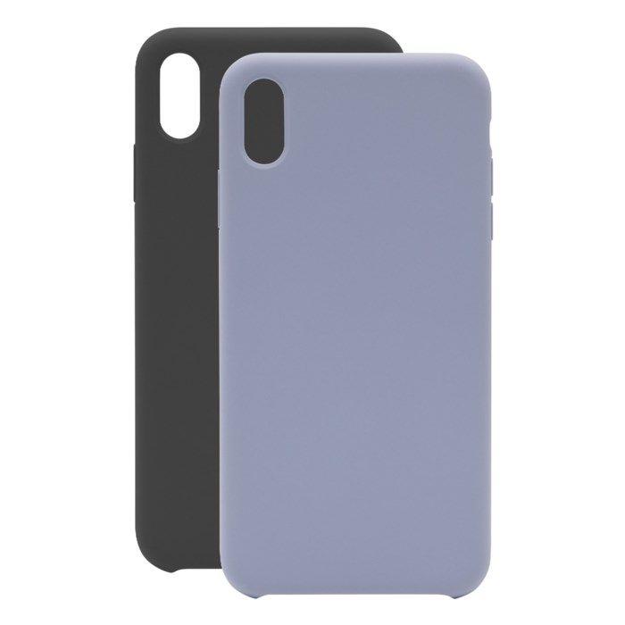 Linocell Elite Rubber Mobilskal för iPhone Xs Max Svart