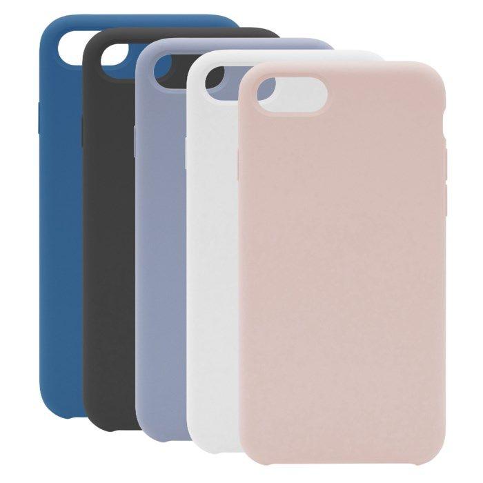 Linocell Elite Rubber Mobilskal för iPhone 7, 8 och SE Svart