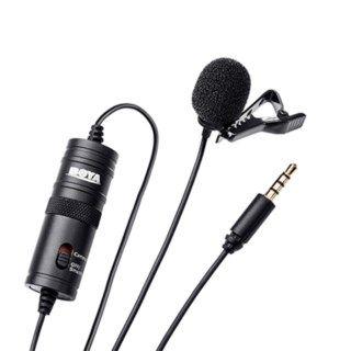 Boya 35C L Lightning til 3,5 mm spiralkabel for mikrofon