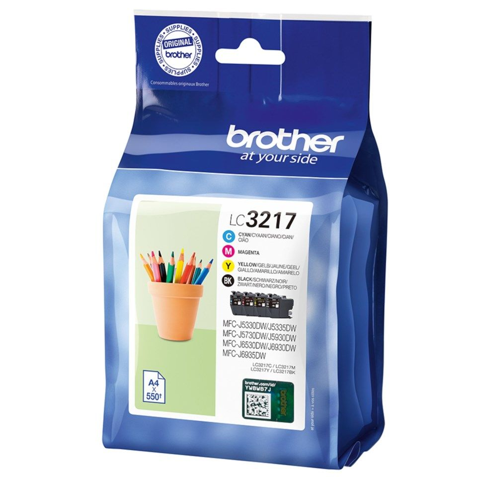 Brother LC3217 Blekkpatroner 4-pk.