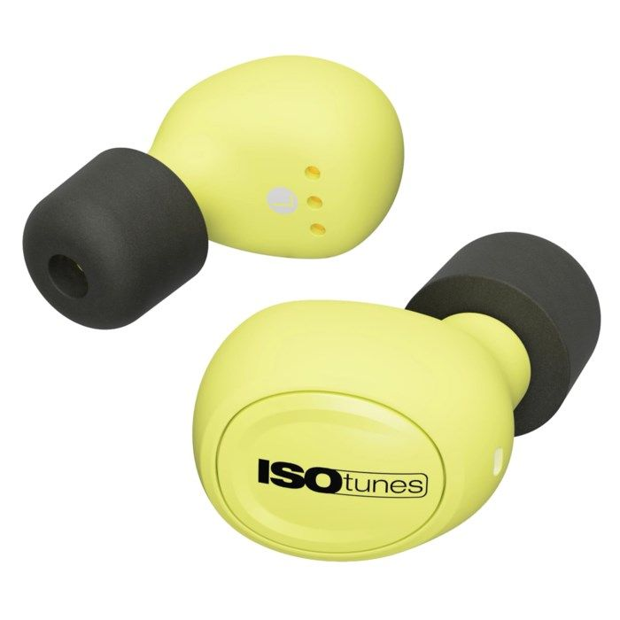 Isotunes Free Hörselskydd med Bluetooth Gul EN352