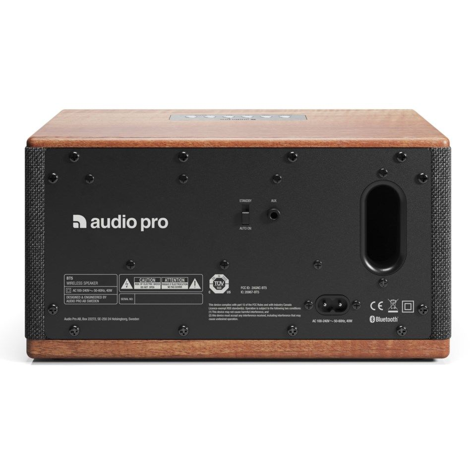 Audio Pro BT5 Bluetooth-høyttaler Walnut