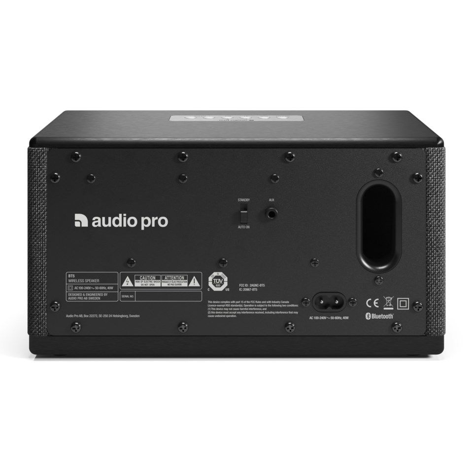 Audio Pro BT5 Bluetooth-högtalare Svart
