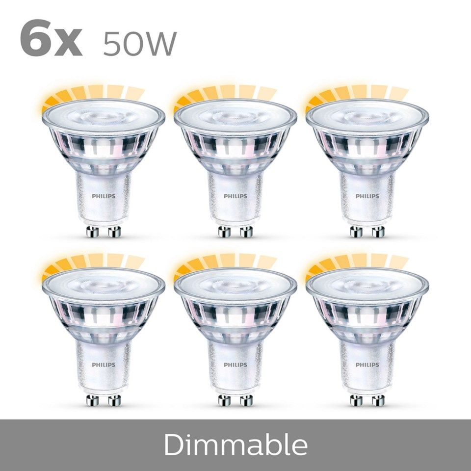 Philips LED-lampa GU10 345 lm 6-pack