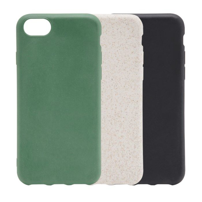 Linocell Biodegradable Mobilskal av halm för iPhone 6, 7, 8 Svart