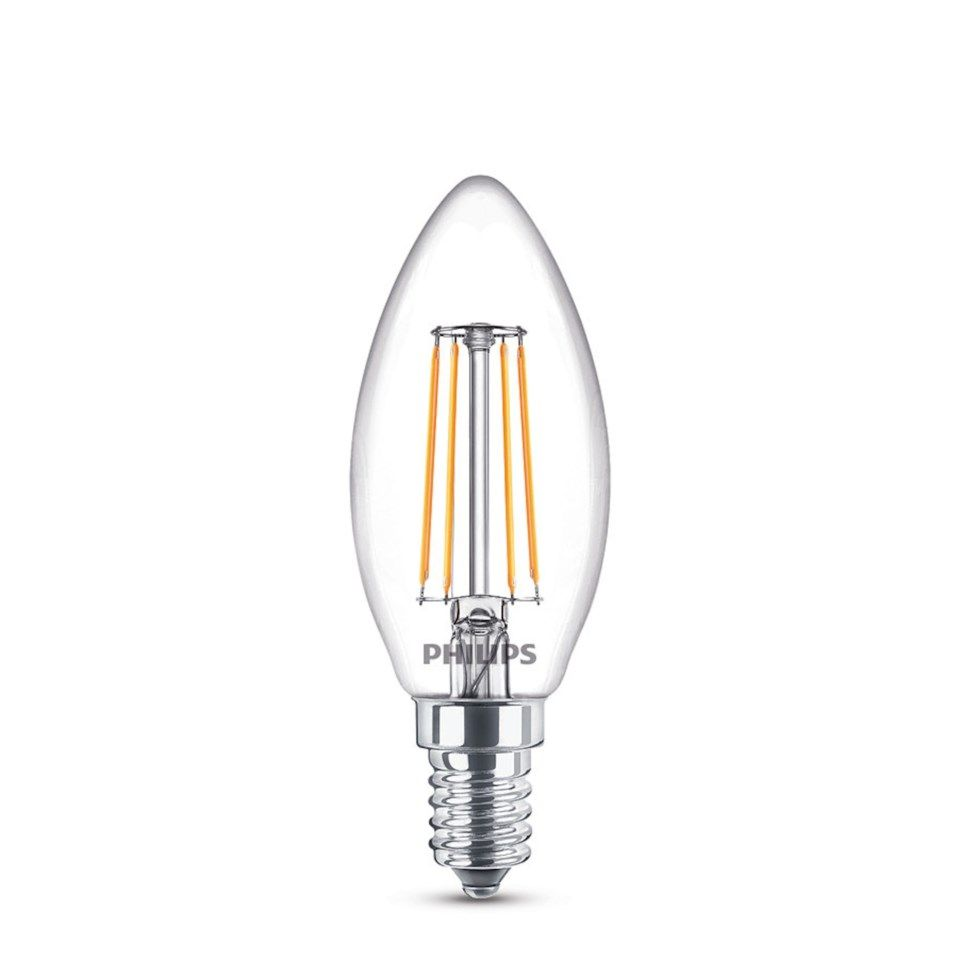 Philips LED-lampa Kron LED E14 470 lm 3-pack