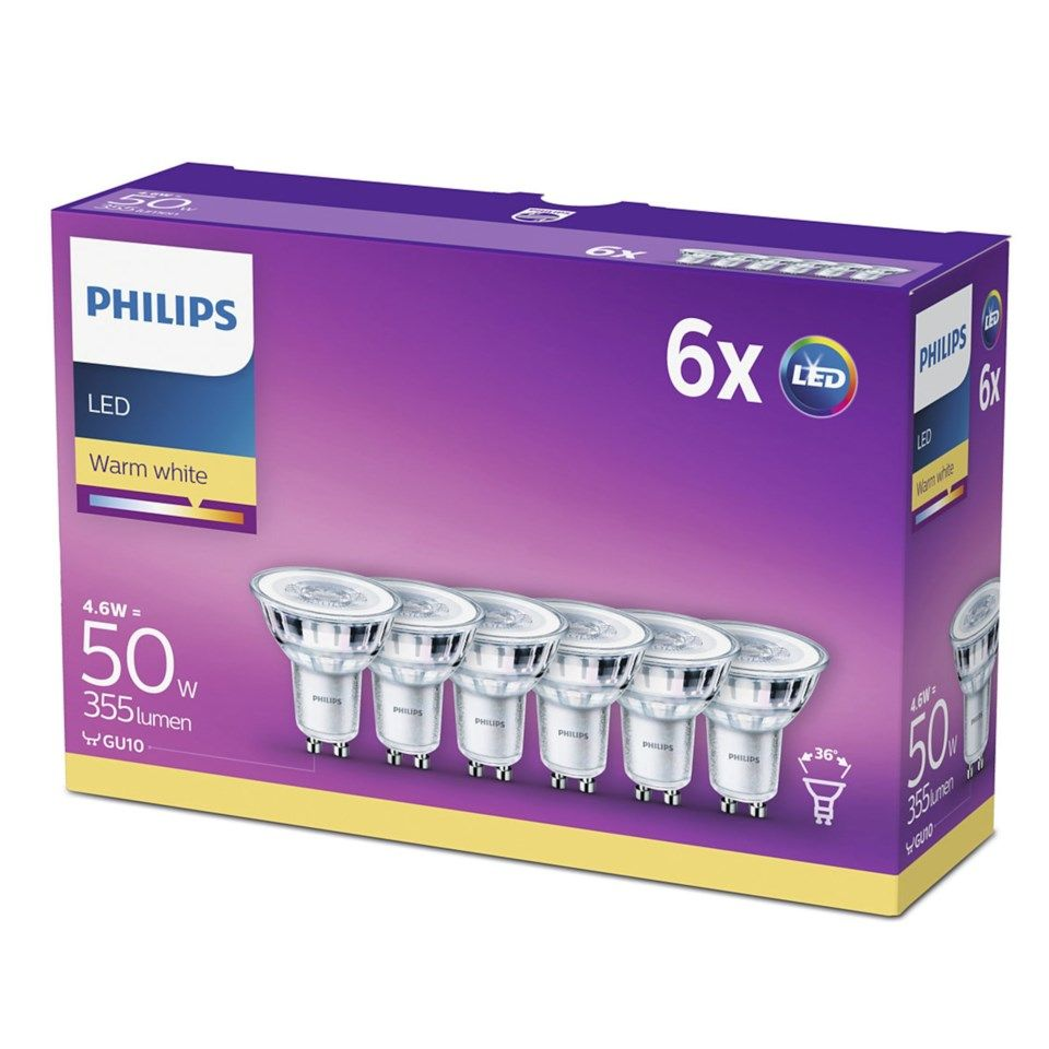 Philips Philips LED-lampa GU10 355 lm 6-pack
