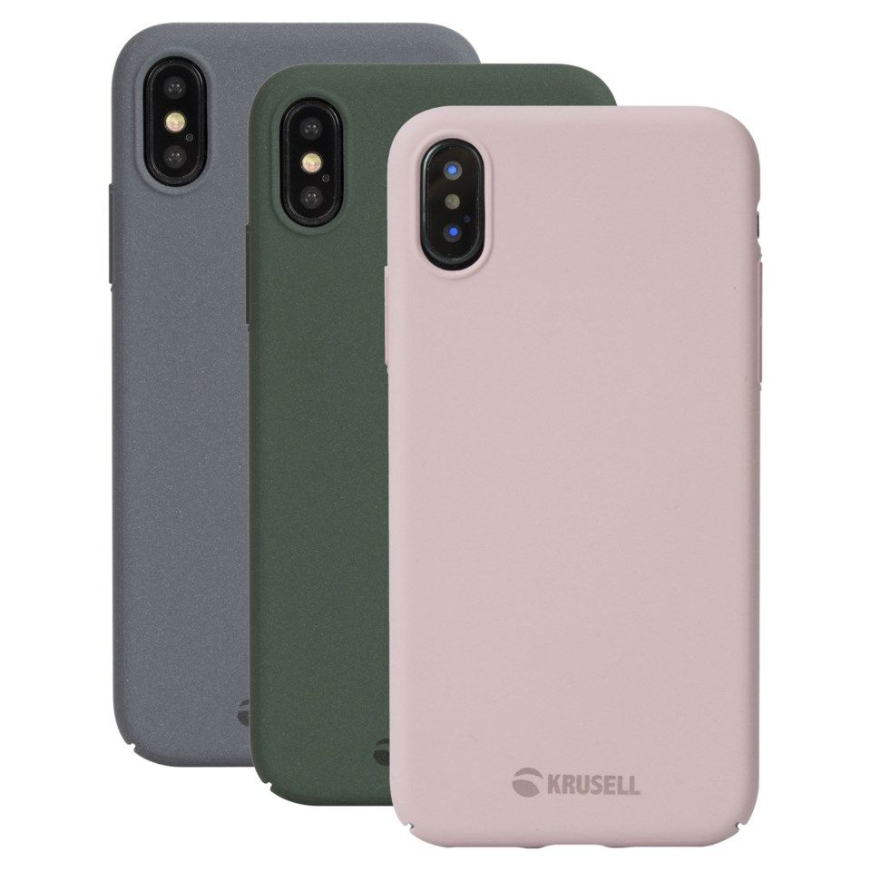 Krusell Sandby Mobildeksel for iPhone X og Xs Dusty Pink