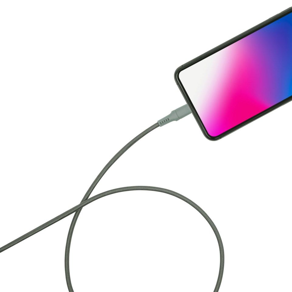 Linocell Colors Lightning-kabel 1,5 m Grønngrå