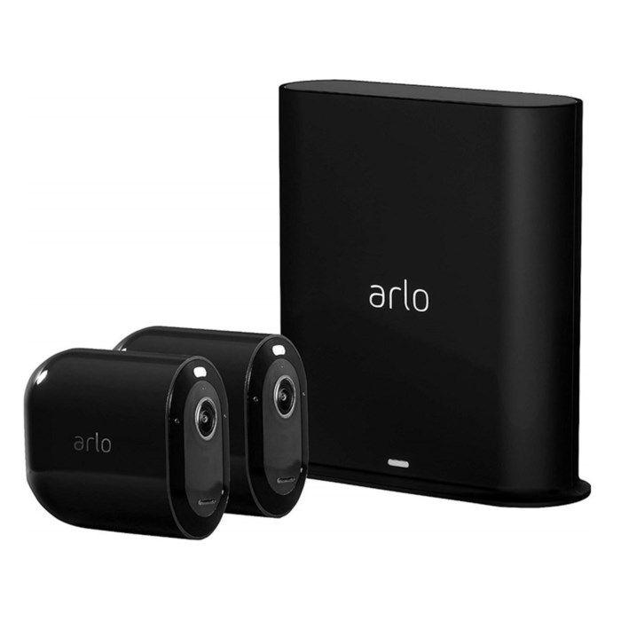 Arlo Pro 3 Övervakningssystem svart med två kameror