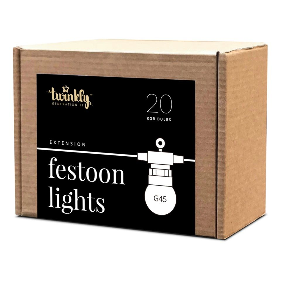 Twinkly Festoon Lights Forlenger til RGB-lyslenke 20 LED