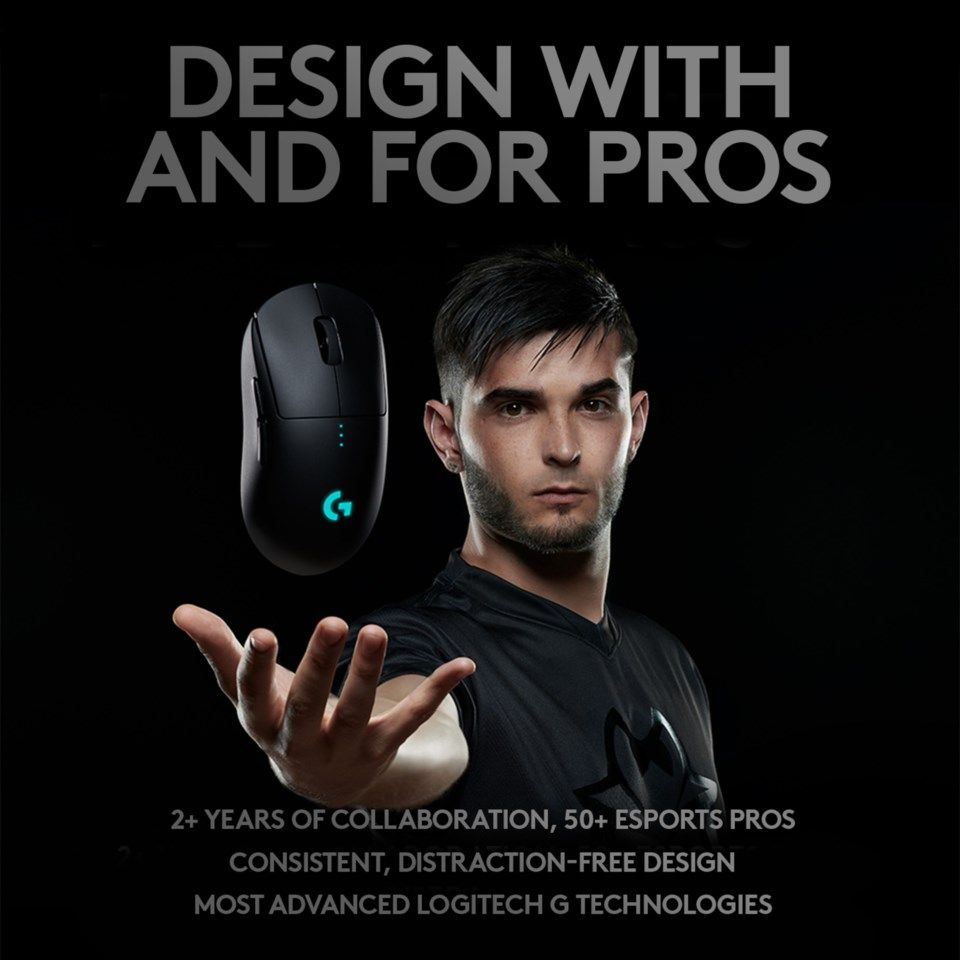 Logitech G Pro Trådløs gaming-mus for proffene