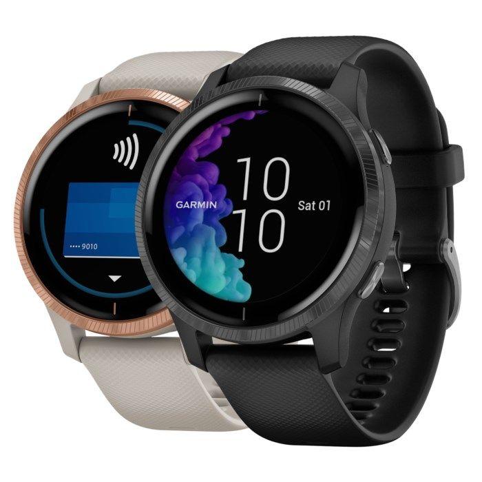Garmin Venu GPS-klocka med pulsmätning Svart