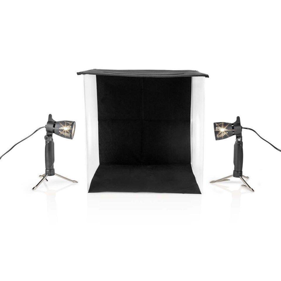 Lystelt for produktfotografering - LED 40x40 cm