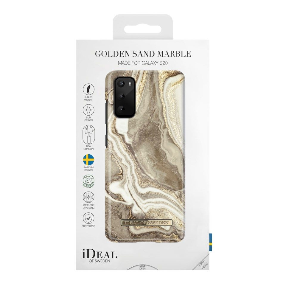 IDEAL OF SWEDEN Golden Sand Marble Mobildeksel for Galaxy S20