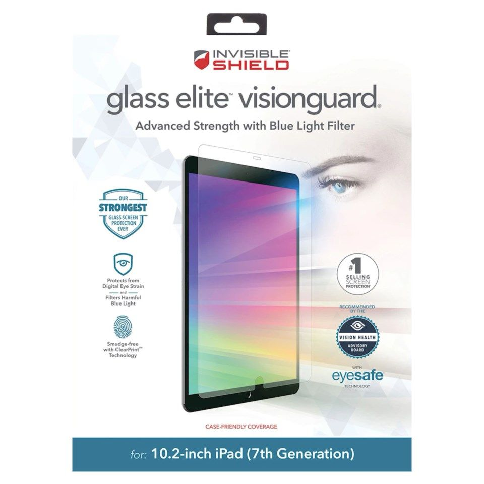 Invisible Shield Glass Elite Visionguard Skjermbeskytter for iPad 10,2""