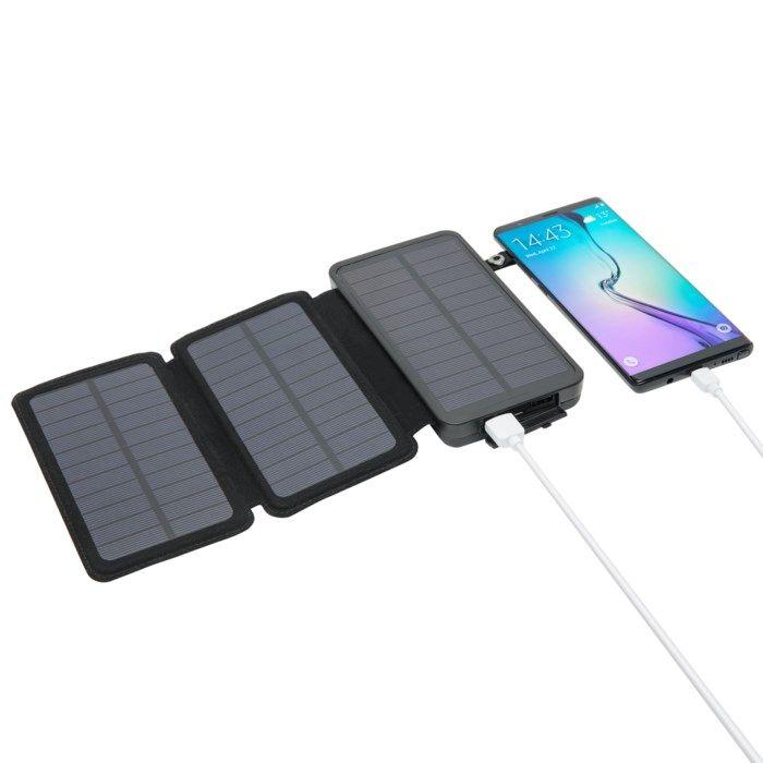 Linocell Powerbank med solcellsladdning 16000 mAh